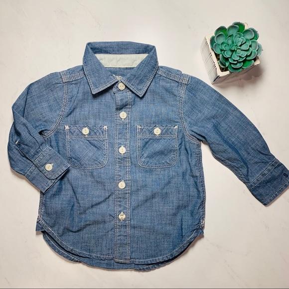 GAP Other - Baby Gap Chambray Button Down Shirt Sz 12-18months